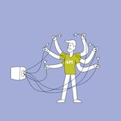 comichafte Darstellung einer API-Schnittstelle