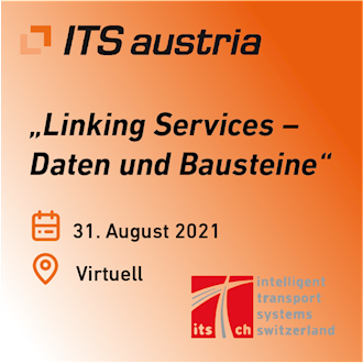 Banner of the event from ITS Austria and ITS Switzerland on 31.08.2021