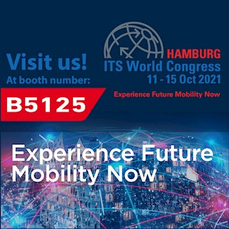 Banner of the ITS World Conference in Hamburg from 11.-15.10.2021